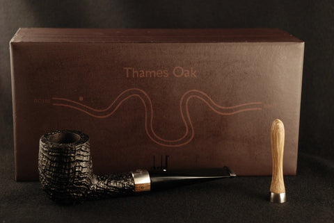 Dunhill Thames Oak 14 of 500 Limited Edition Billiard Shell Briar 4103 Titanium and Oak Band