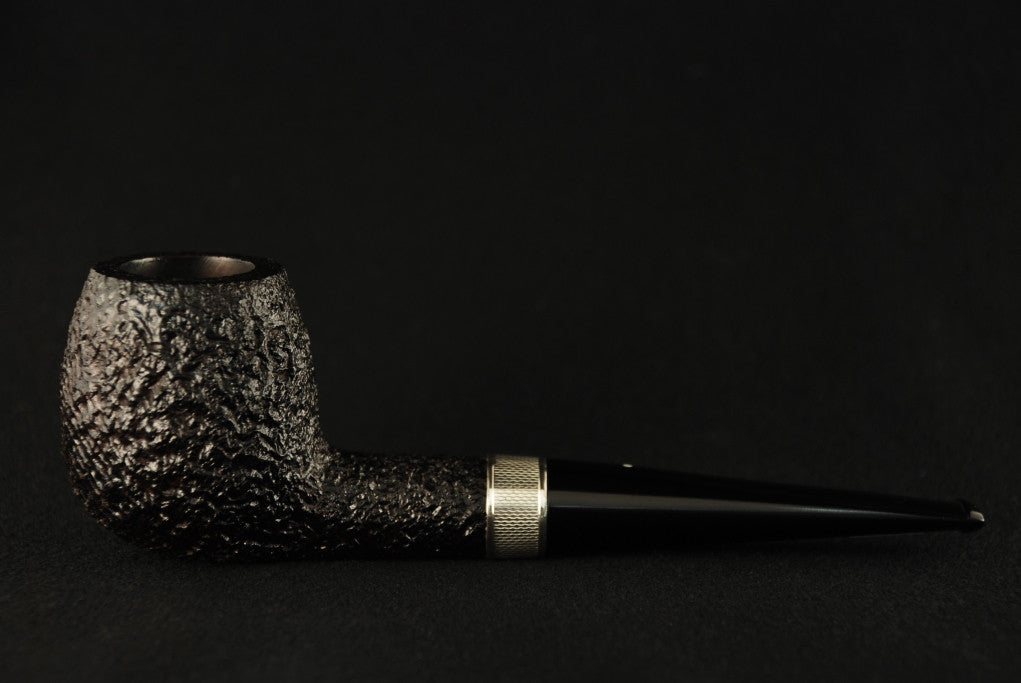 Dunhill Shell Briar Apple - 6101 Silver band decorated