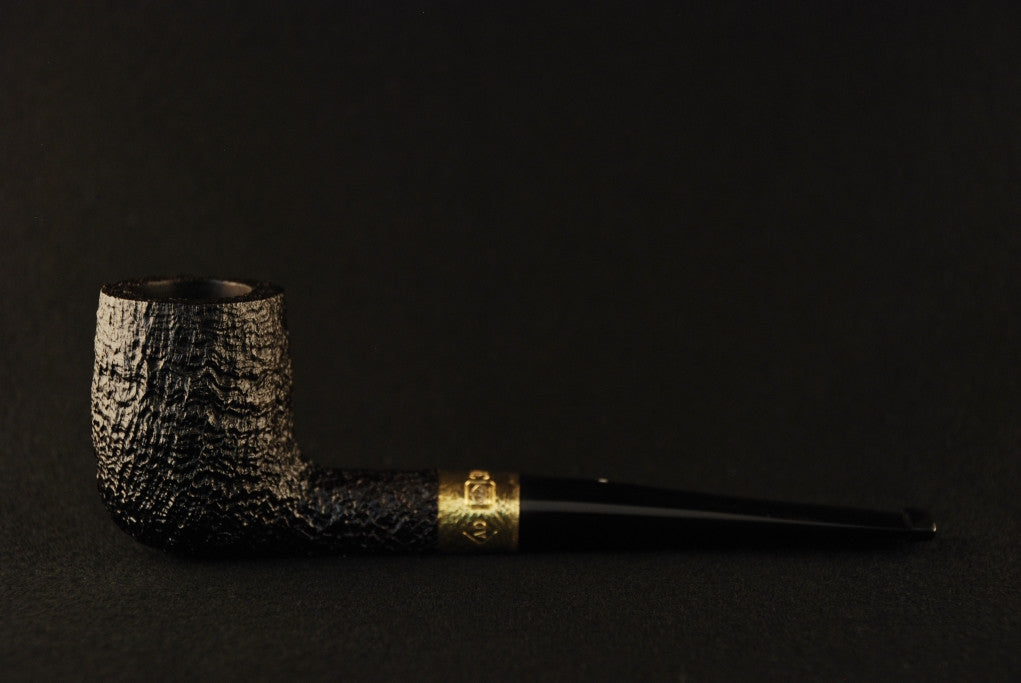 Dunhill Shell Billiard - 5103 RG Gold band decorated