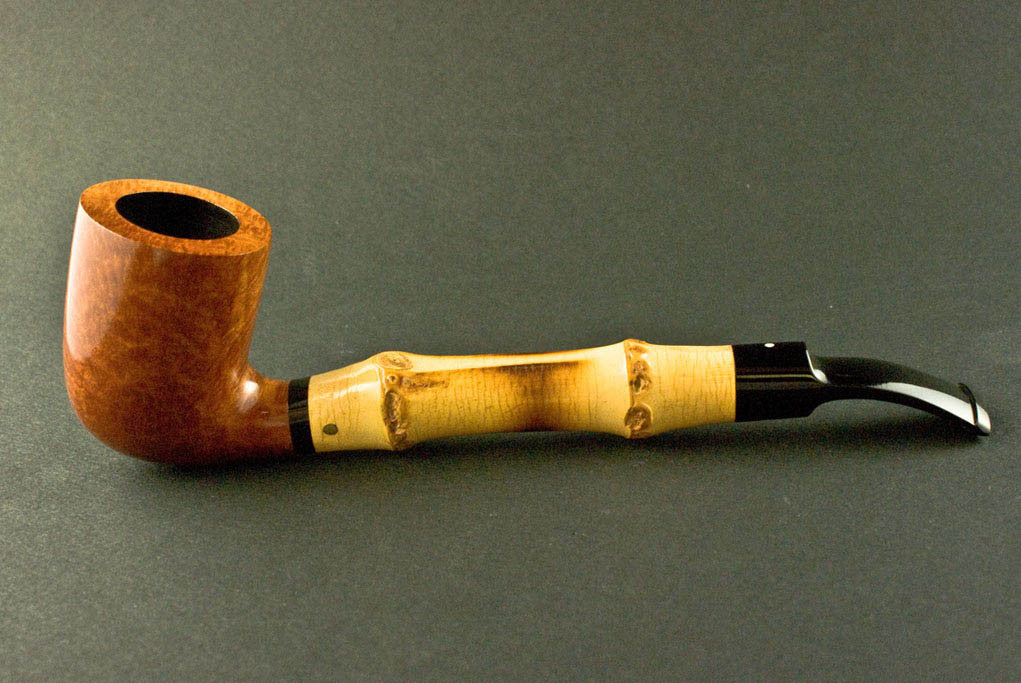 Dunhill Root Briar Bamboo Billiard Half Bent 4114