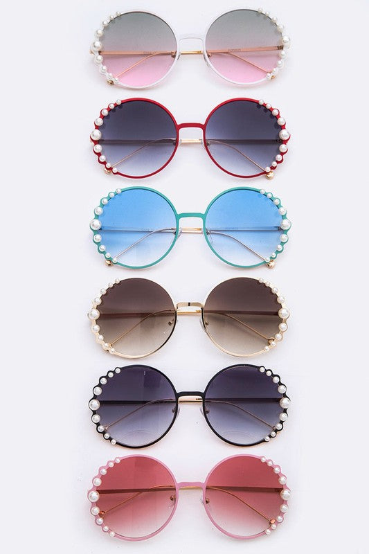 Pearl Accent Gradient Sunglasses