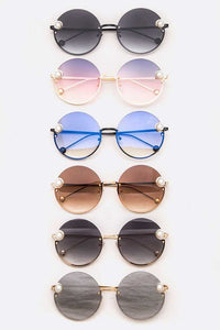 Single Pearl Accent Sunglasses