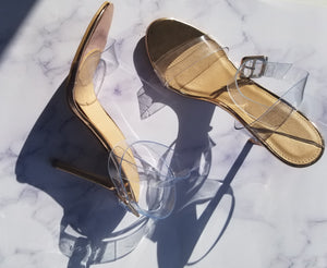 Clear and Gold Heel