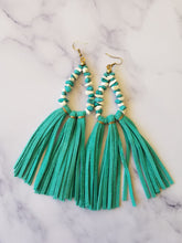 Load image into Gallery viewer, Boho Turq Tassels