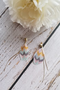 Pastel Tribal Feather Earrings