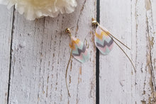 Load image into Gallery viewer, Pastel Tribal Feather Earrings