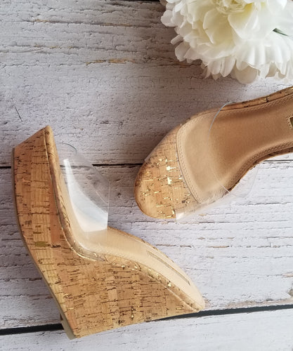 Clear & Gold Wedges