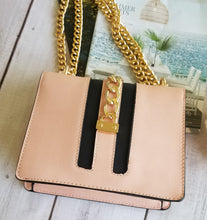 Load image into Gallery viewer, Soft Pink Chains Locks Handbag