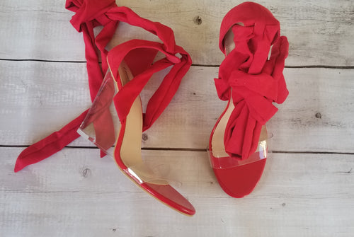 Red and Clear Tie Wedges