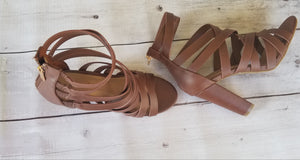 Brown Strappy Heels