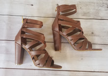 Load image into Gallery viewer, Brown Strappy Heels