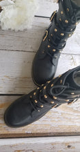 Load image into Gallery viewer, Studded Strappy Combat Boots