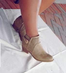 Taupe Cutout Boots