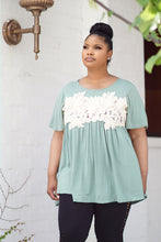 Load image into Gallery viewer, Embroidery Flowy Top (Sage)