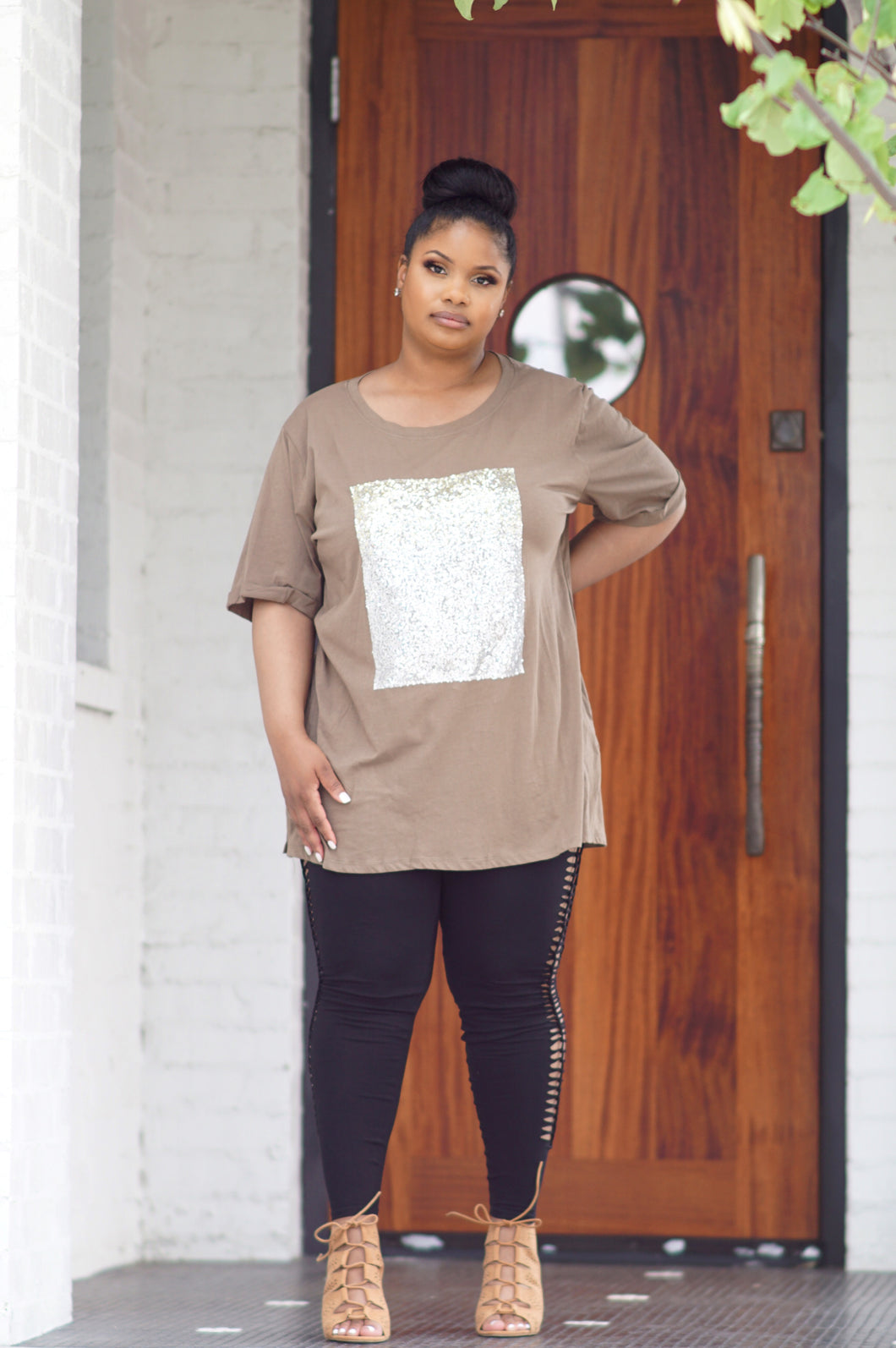 Silver/ Gold Sequin Oversized Shirt