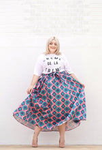 Load image into Gallery viewer, Pink Print Ball Skirt