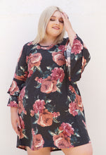 Load image into Gallery viewer, Floral Bell-sleeved Dress
