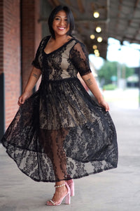 Lace, Nude Undertone Dress