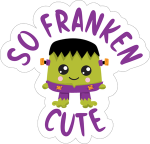 Vinyl Add On  for bandanas - Green Frankenstein Cutie- XOXO Myko pet accessories