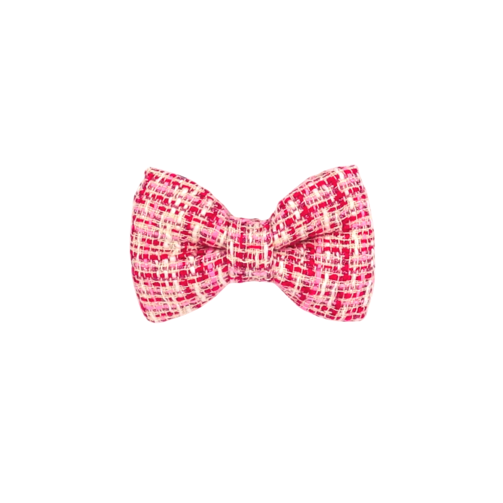 Legally Blonde Pink Tweed Bow Tie