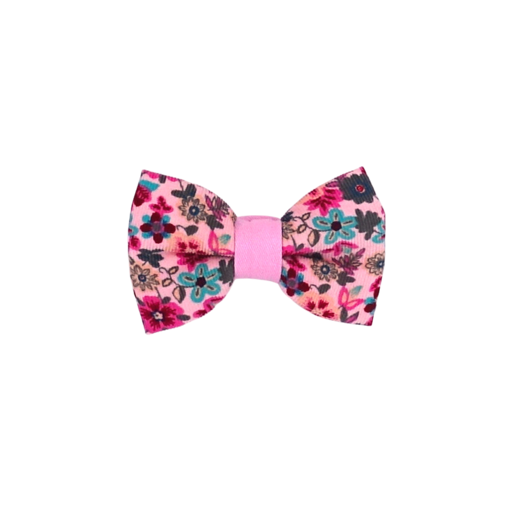 Waterlily Pink Floral Bow Tie