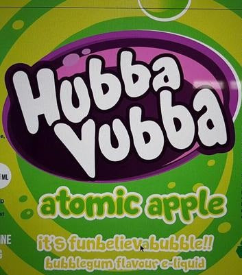 Atomic Apple E Liquid By Hubba Vubba 100ml Short Fill