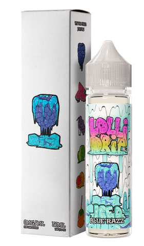 Blue Razz Iced E Liquid by Lolli Drip