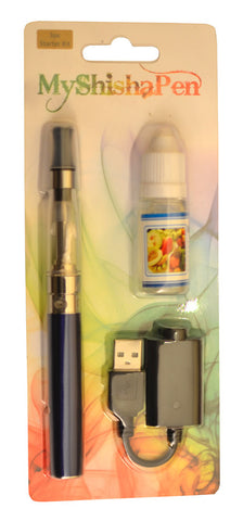Rechargeable/Refillable Electronic Shisha / Vapour Pen Blue