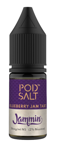 Jammin Blueberry Jam Tart Nicotine Salt E Liquid by Pod Salt