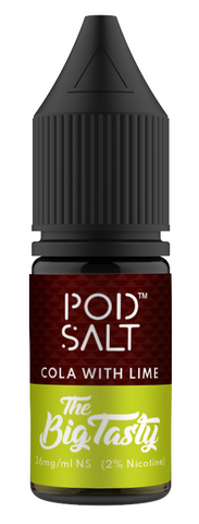 Cola with Lime Nicotine Salt E Liquid by Pod Salt