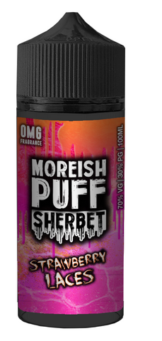 Strawberry Laces Sherbet E Liquid By Moreish Puff