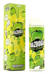 Green Apple Sour Straws by Bazooka