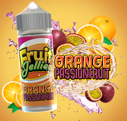 Orange Passion fruit E Liquid by Fruit Jellies