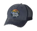 Rainbow Surfer Navy Mesh Hat