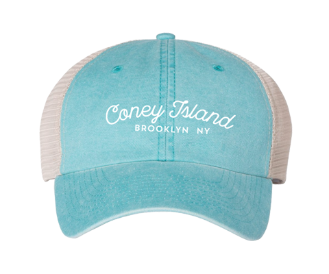 Coneytown Script Aqua Two Toned Hat