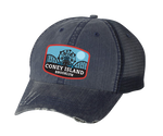 Coney Island Blue Moon Patch Navy Mesh Hat