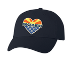 Rockaway Sunset Mermaid Heart Embroidered Classic Black Hat