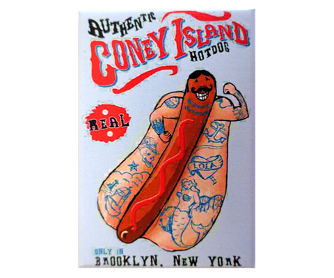 Authentic Coney Island Hot Dog Magnet