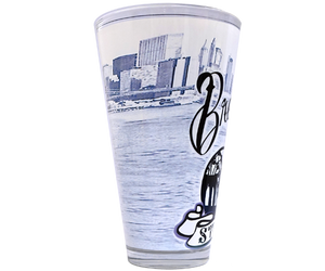 Brooklyn Strong Black Pint Glass