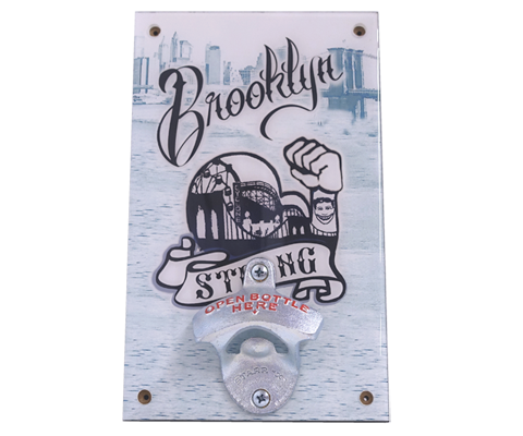 Brooklyn Strong Wall Bottle Opener