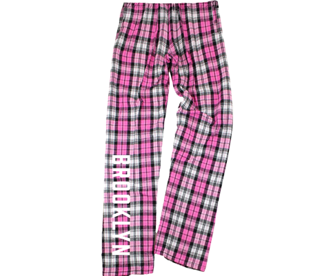 Hot Pink Plaid Kids Brooklyn Pajama Pants