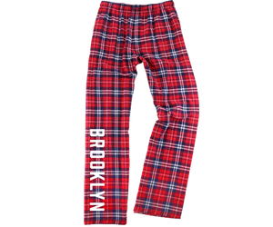 kids comfortable pajama pants and red plaid, Brooklyn Prince, handmade gifts for kids made in Brooklyn NY
