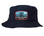 Coney Island Blue Moon Patch Navy Bucket Hat