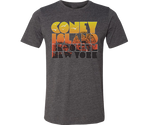 Coney Island Sunset Gradient Brown Adult Tee