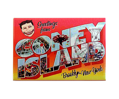 Greetings from coney island magnet m4hsunfo