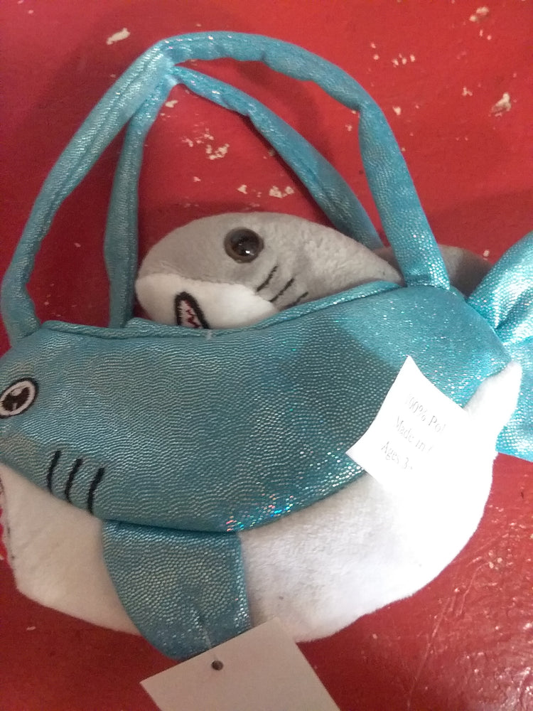 Load image into Gallery viewer, Shark purse plush