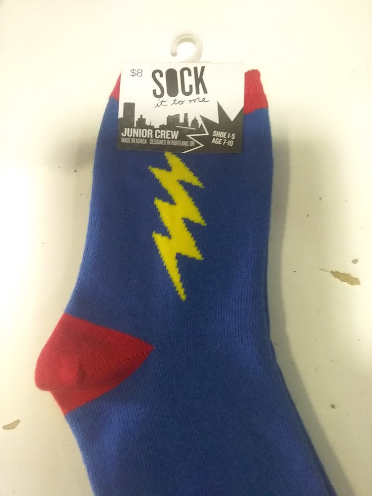 Super hero youth crew socks