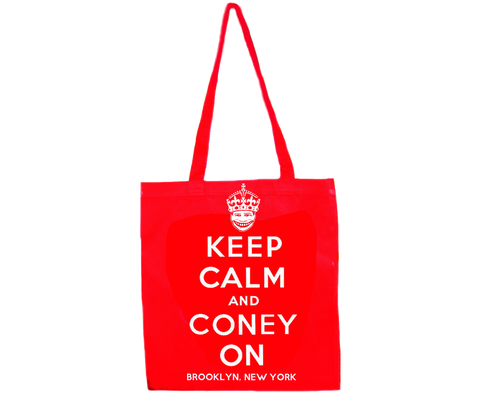 Keep Calm and Coney On Tote Bag