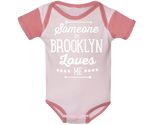 Someone in Brooklyn Loves Me Dusty Pink Raglan Onesie