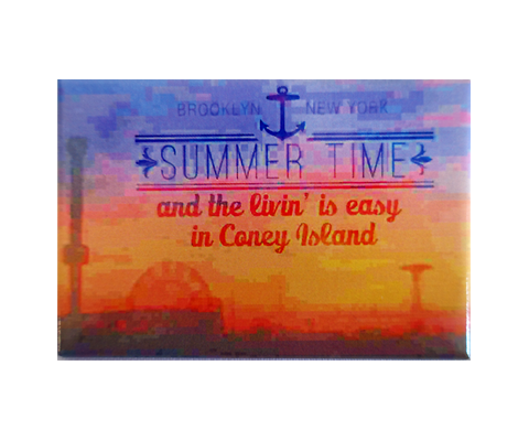 Summertime in Coney Island Magnet